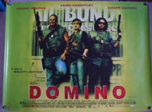 Domino, UK Quad Poster, Keira Knightley, Mickey Rourke, '05
